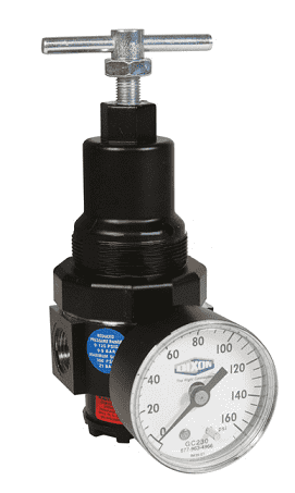 "R11-02CG Dixon Watts Regulator - 1/4"" Compact Regulator with Gauge - 60 SCFM"