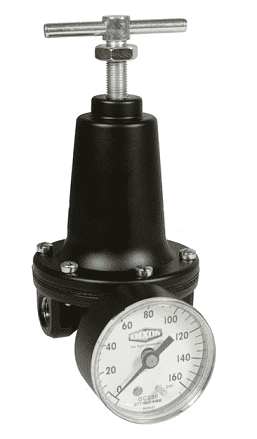 "R119-03CG Dixon Watts Regulator - 3/8"" Standard Regulator with Gauge - 80 SCFM"