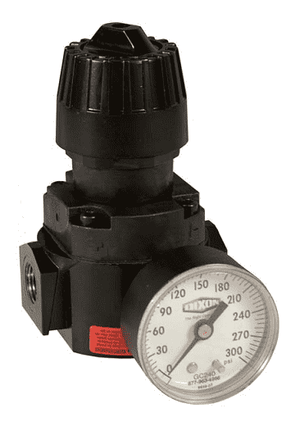 "R16-02RHG Dixon Wilkerson 1/4"" High Pressure Compact Regulator with Gauge - 71.5 SCFM"