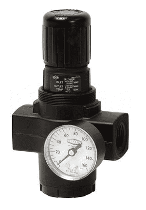 "R17-A00RG Dixon Series 1 Regulators - 1-1/4"" Jumbo with Gauge - 400 SCFM"
