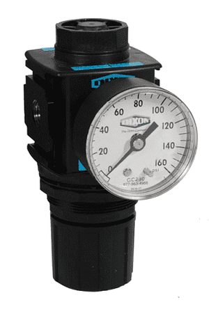 "R18-04RG Dixon Wilkerson 1/2"" Compact Regulator with Gauge - 97 SCFM"