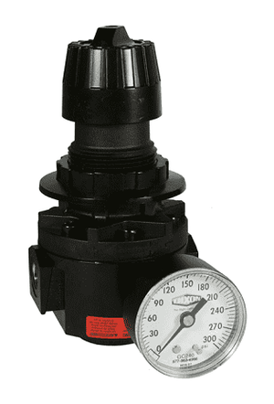 "R26-02RHG Dixon Wilkerson 1/4"" High Pressure Standard Regulator with Gauge - 112 SCFM"