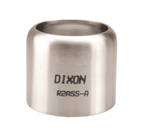 "R25BSS-A Dixon 2-1/2"" 304 Stainless Steel API 520-H Series Ferrule - Hose OD from 3-2/64"" to 3-6/64"""