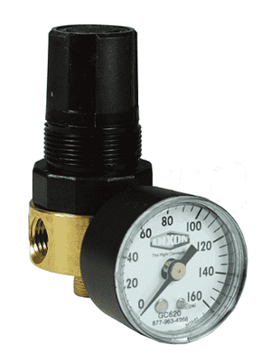 "R364-02CG Dixon Watts Regulator - 1/4"" Mini Regulator with Gauge - 10 SCFM"