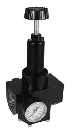 "R40-0BRHG Dixon Wilkerson 1-1/2"" High Pressure High Flow Regulator with Gauge - 1200 SCFM"