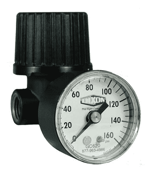 R46-200RG Dixon Miniature Non-Repairable General Purpose Regulator with Gauge - 1/4""