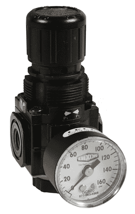 "R72M-3RG Dixon Series 1 Manifold Regulators - 3/8"" Sub-Compact with Gauge - 83 SCFM"