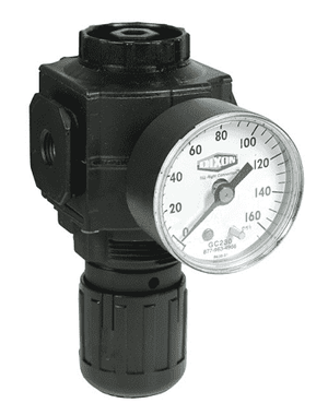 "R73G-4RG Dixon Series 1 Regulators - 1/2"" Compact with Gauge - 144 SCFM"
