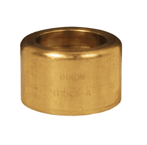 "R1BS-A Dixon 1"" Brass Scovill Style 520-H Ferrule - Hose OD from 1-33/64"" to 1-35/64"""