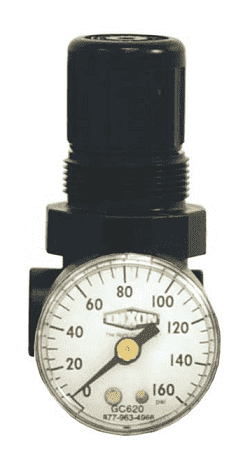 "R91-221RG Dixon Series 1 Miniature 1/4"" Water Regulator with Gauge - 1.75 SCFM"
