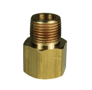 "RA2F2M Dixon Brass Threaded Adapter - Female NPTF 1/4"" x Male NPTF 1/4"""
