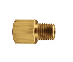 "RA4F2M Dixon Brass Reducer Adapter - 1/2"" Female NPTF x 1/4"" Male NPTF"