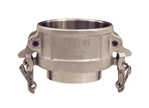 "RC150BT Dixon 1-1/2"" 316 Stainless Steel Boss-Lock Coupler x Butt Weld to Tube End"