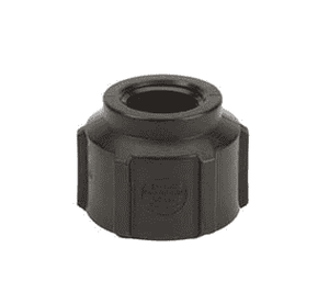 "RC150-125 Banjo Polypropylene Pipe Reducing Coupling - 1-1/2"" Female NPT x 1-1/4"" Female NPT - 150 PSI (Pack of 10)"