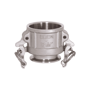 "RC200SE Dixon 316 Stainless Steel Sanitary Transition Fitting - 2"" Cam and Groove Coupler x Clamp End"