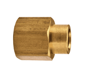"RC2F1F Dixon Brass Reducer Couplings - 1/4"" x 1/8"" NPTF Thread Adapter"