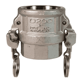"RD150EZ Dixon 1-1/2"" 316 Stainless Steel EZ Boss-Lock Type D Coupler"