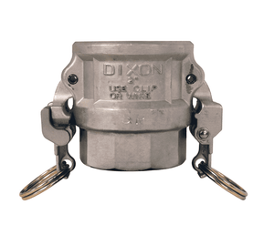 "RDWSP100EZ Dixon 1"" 316 Stainless Steel EZ Boss-Lock Coupler for Welding - Socket Weld to Schedule 40 Pipe - 1.330 Bore"
