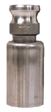 "RE100-1770 Dixon 1"" 316 Stainless Steel Swaged Boss-Lock Type E Adapter with Ferrule for Hose OD Range: 1-36/64"" to 1-44/64"""