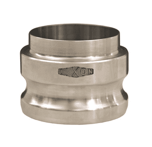 "RE150BT Dixon 1-1/2"" 316 Stainless Steel Adapter x Butt Weld to Tube End"