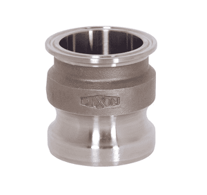 "RE200SE Dixon 316 Stainless Steel Sanitary Transition Fitting - 2"" Cam and Groove Adapter x Clamp End"