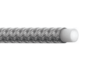 S-6TW Eaton Aeroquip Everflex S-TW Smooth Bore PTFE SAE 100R14A Hose - 304 Stainless Steel Braid, is an excellent choice in applications requiring steam cleaning of an assembly or transfer of a highly viscous media, such as adhesives, paints or food products.