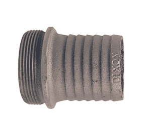 "S15 Dixon 1-1/4"" King Short Shank Suction Male Coupling with NPSM Thread (Plated Iron)"