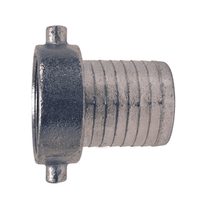 "S12 Dixon 1"" King Short Shank Suction Female Coupling with NPSM Thread (Plated Iron Shank with Plated Iron Nut)"