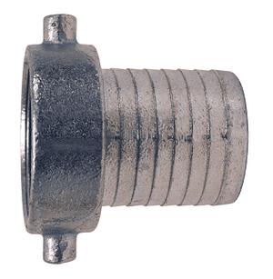 "S32N Dixon 2-1/2"" King Short Shank Suction Female Coupling with NST (NH) Thread (Steel Shanks with Plated Iron Nut)"