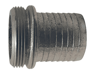 "S201 Dixon 1-1/2"" King Short Shank Suction Male Coupling with NST (NH) Thread (Steel Shank)"