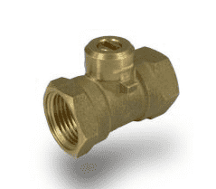 "S31CX3 RuB Inc. Ball Valve For Actuation - Brass - 3/8"" Female NPT x 3/8"" Female NPT - No Handle - Screw-Actuator"