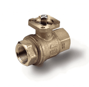 "S64D41 RuB Inc. Ball Valve For Actuation - Brass - 1/2"" Female NPT x 1/2"" Female NPT - with Brass Trim"