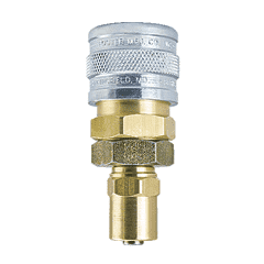 "SB3-3 ZSi-Foster Quick Disconnect 1-Way Manual Socket - 1/4"" ID x 1/2"" OD - Brass/Steel - Reusable Hose Clamp"