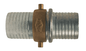 "SB123 Dixon 4"" King Short Shank Suction Complete Coupling with NPSM Thread (Plated Iron Shank with Brass Nut)"