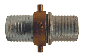"SB93N Dixon 2-1/2"" King Short Shank Suction Complete Coupling with NST (NH) Thread (Plated Iron Shanks with Brass Nut)"