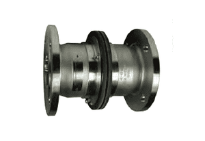 "SBC400ALFL Dixon 4"" Aluminum Industrial Safety Break-Away Coupling - 150# Flange x 150# Flange - 100 DN"