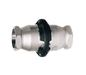 "SBC400SS Dixon 4"" 316 Stainless Steel Industrial Safety Break-Away Coupling - Female NPT x Female NPT - 100 DN"