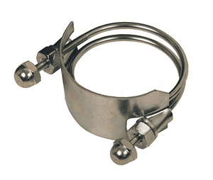 "SC800 Dixon 8"" Spiral Clamp - Right Hand - Plated Steel - Hose OD Range: 8-32/64"" to 9-16/64"""