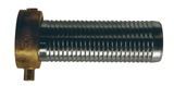 "SD40 Dixon 4"" Super King Long Shank NPSM Female Coupling - Plated Steel Shank with Brass Pin Lug Nut - 5"" Shank Length"