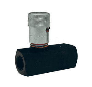 "SFC2400 Dixon 1-1/2"" Female NPTF Black Oxide Steel Series F Flow Control Valve"