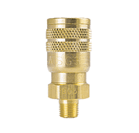 "SG3103D ZSi-Foster Quick Disconnect 1-Way Manual Sleeve Guard Socket - 1/4"" MPT - Brass w/Dill Valve"