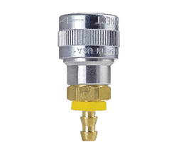 "SHD1815 ZSi-Foster Quick Disconnect SHD5 Series 1/2"" Automatic Socket - 3/4"" ID - Push-On Hose Stem Aluminum/Steel/Brass"