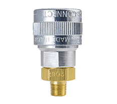 "SHD3103-104 ZSi-Foster Quick Disconnect SHD3 Series 1/4"" Automatic Socket - 1/4"" MPT - Aluminum/Steel/Brass w/Silicone Seal"