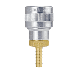 "SHD3703 ZSi-Foster Quick Disconnect SHD3 Series 1/4"" Automatic Socket - 3/8"" ID - Hose Stem - Aluminum/Steel/Brass"