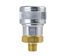 "SHD4905 ZSi-Foster Quick Disconnect SHD5 Series 1/2"" Automatic Socket - 1/4"" MPT - Aluminum/Steel/Brass"