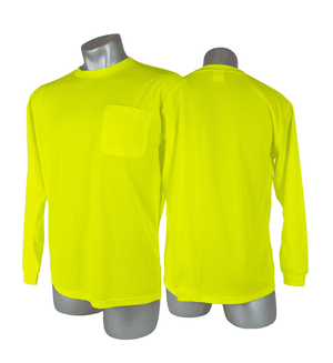 SHL0014 Malta Dynamics High Visibility Yellow Safety Long Sleeve Shirt - XL