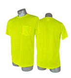SHS0011 Malta Dynamics High Visibility Yellow Safety Short Sleeve Shirt - S