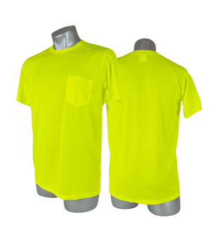 SHS0013 Malta Dynamics High Visibility Yellow Safety Short Sleeve Shirt - L