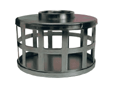 "SHS40 Dixon 4"" Type B (Bauer Style) Quick Connect Fitting - Standard Strainer Square Hole Type - Zinc Plated Steel"