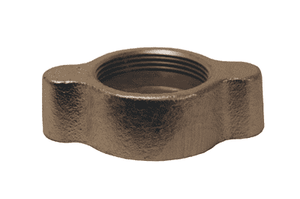 "B12 Dixon 1/2"" x 3/4"", 3/4"", and 1"" Plated Iron GJ Boss Ground Joint/Washer Seal - Wing Nut"